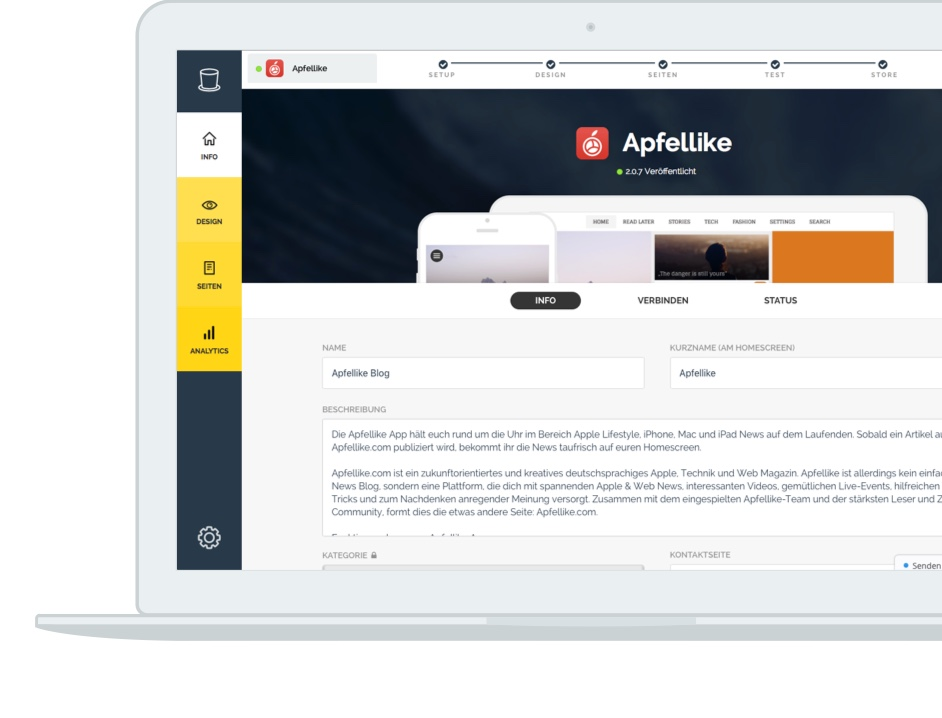 appful® | Content Mobile App for Companies & Magazines | WordPress & Co